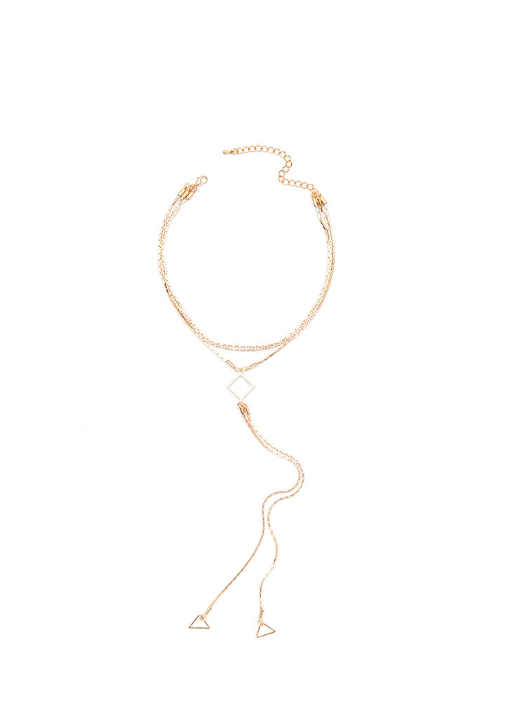 Double The Charm Chain Y-Necklace GOLD