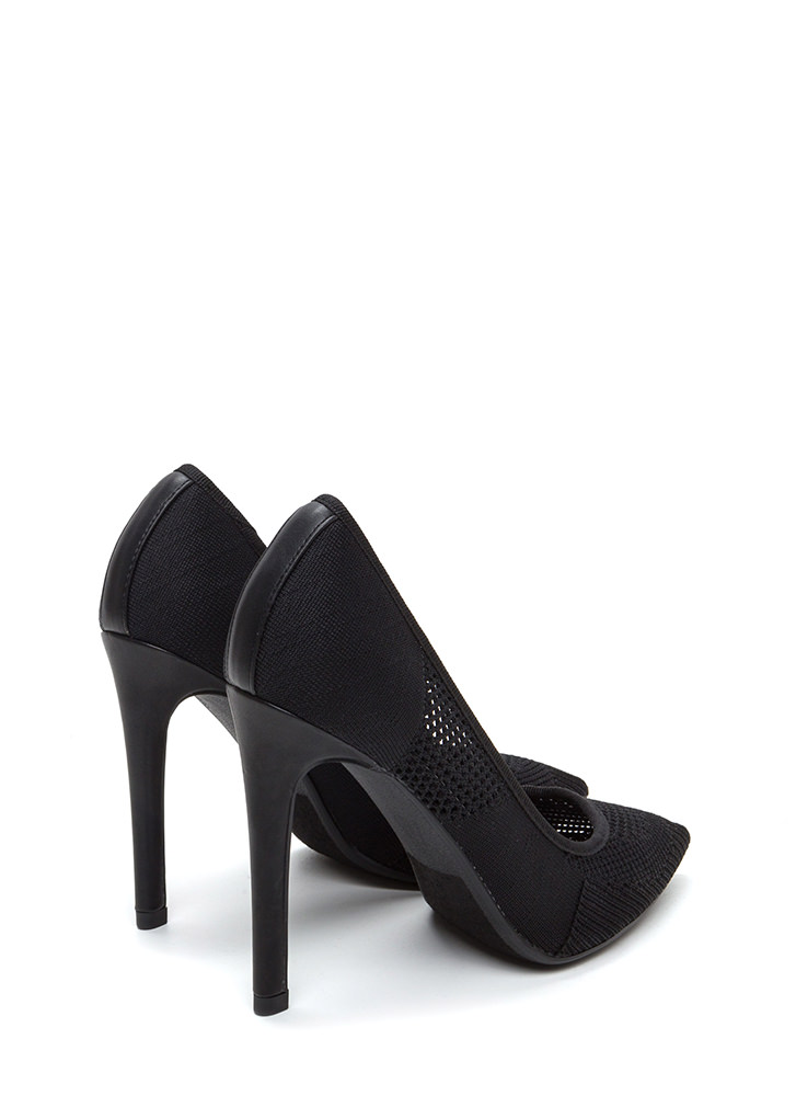 Be-Weave In Yourself Pointy Heels BLACK