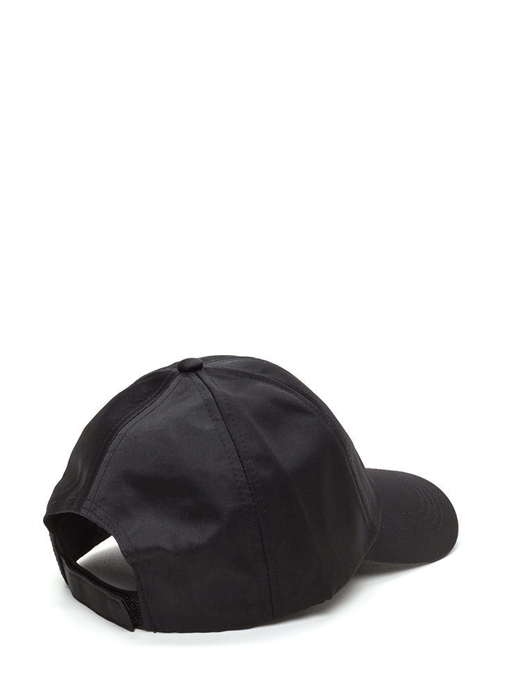 Fiesta Siesta Tequila Repeat Satin Cap BLACK