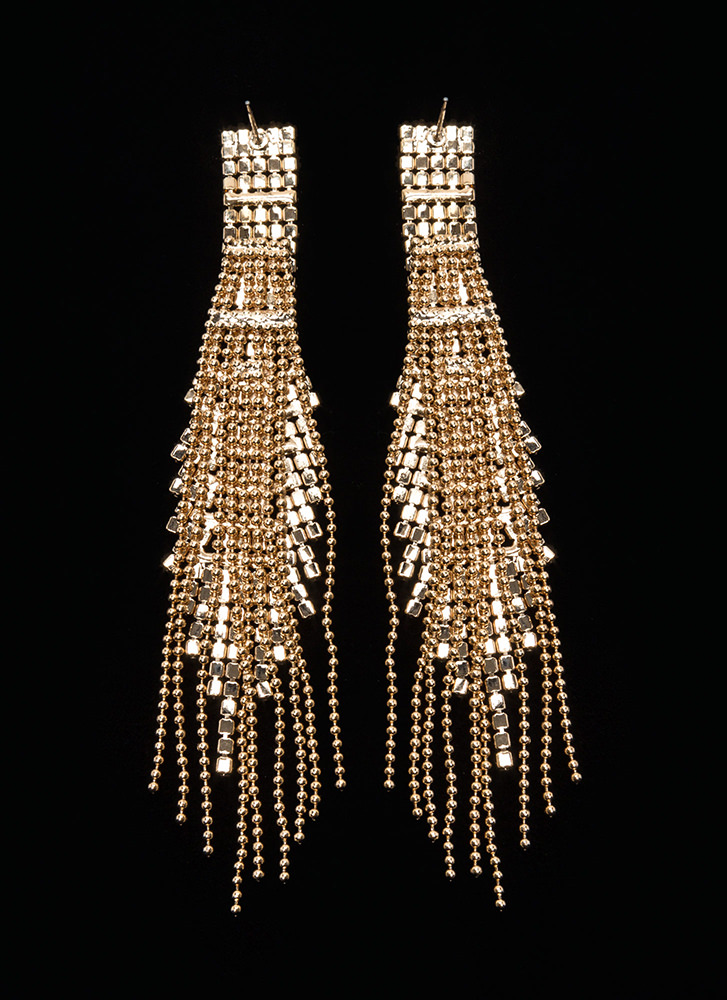 Special Occasion Jeweled Panel Earrings GOLD