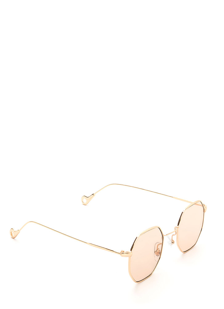 Throwback Cool Tinted Sunglasses BEIGE