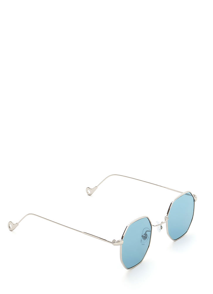 Throwback Cool Tinted Sunglasses BLUE