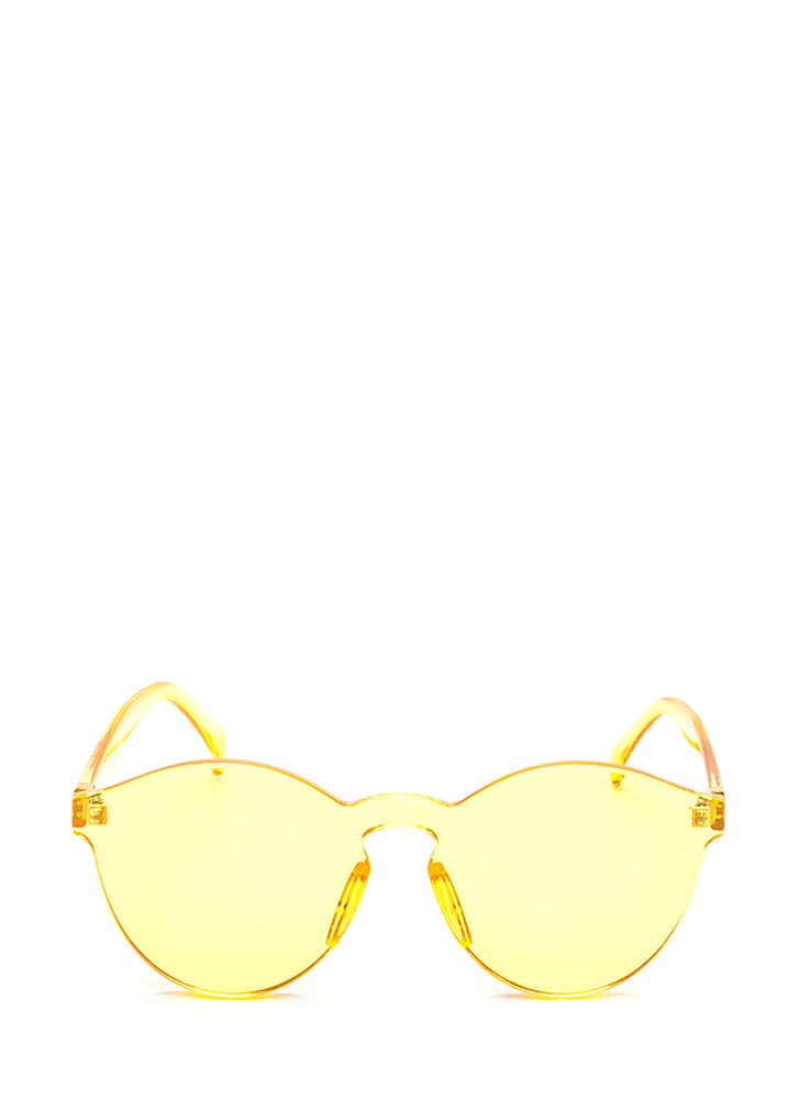 All Together Now Frameless Sunglasses YELLOW
