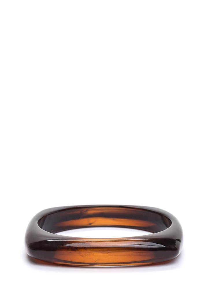 Everything's Squared Away Bangle BROWN