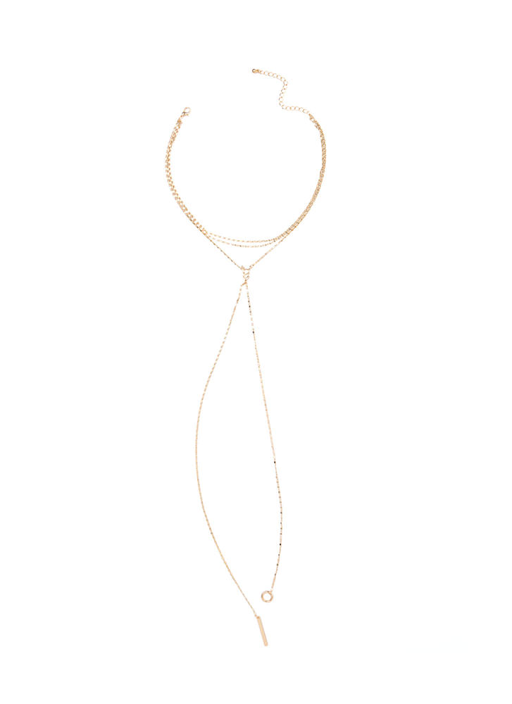 Favorite Feature Layered Y-Necklace GOLD