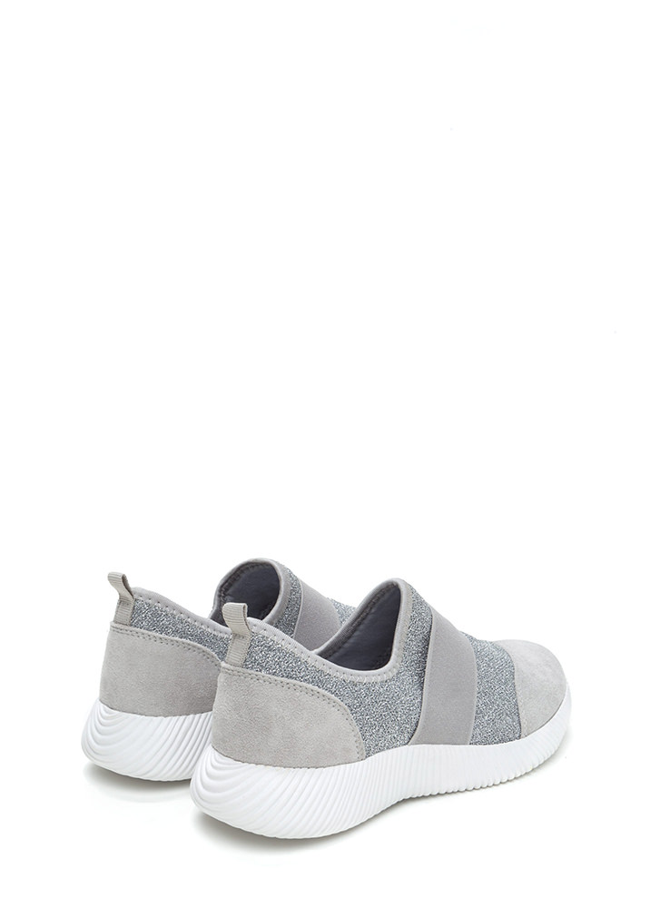 I've Been Band Metallic Slip-On Sneakers SILVER