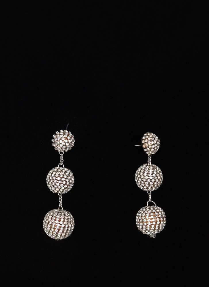 Sparkly Perfection Ball Earrings SILVERGOLD