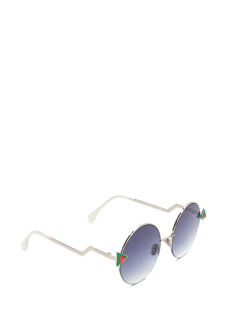Shape Up Round Sunglasses REDGREEN