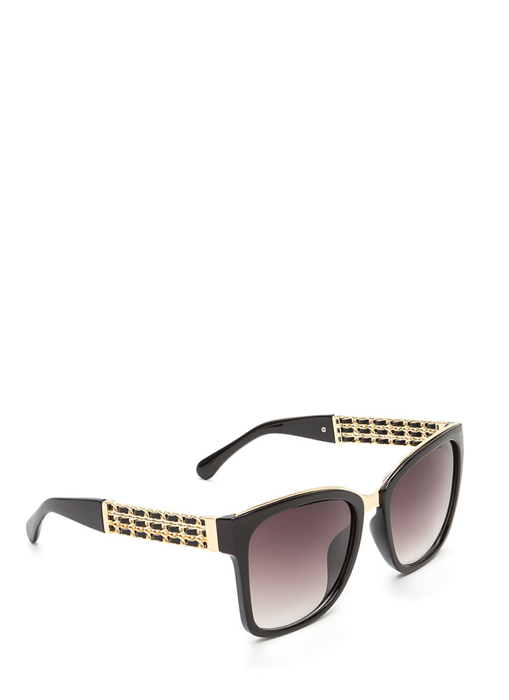 Yank Your Chain Square Sunglasses BLACKGOLD