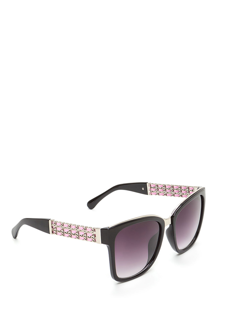 Yank Your Chain Square Sunglasses BLACKPINK