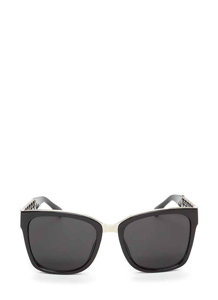 Yank Your Chain Square Sunglasses BLACKSILVER