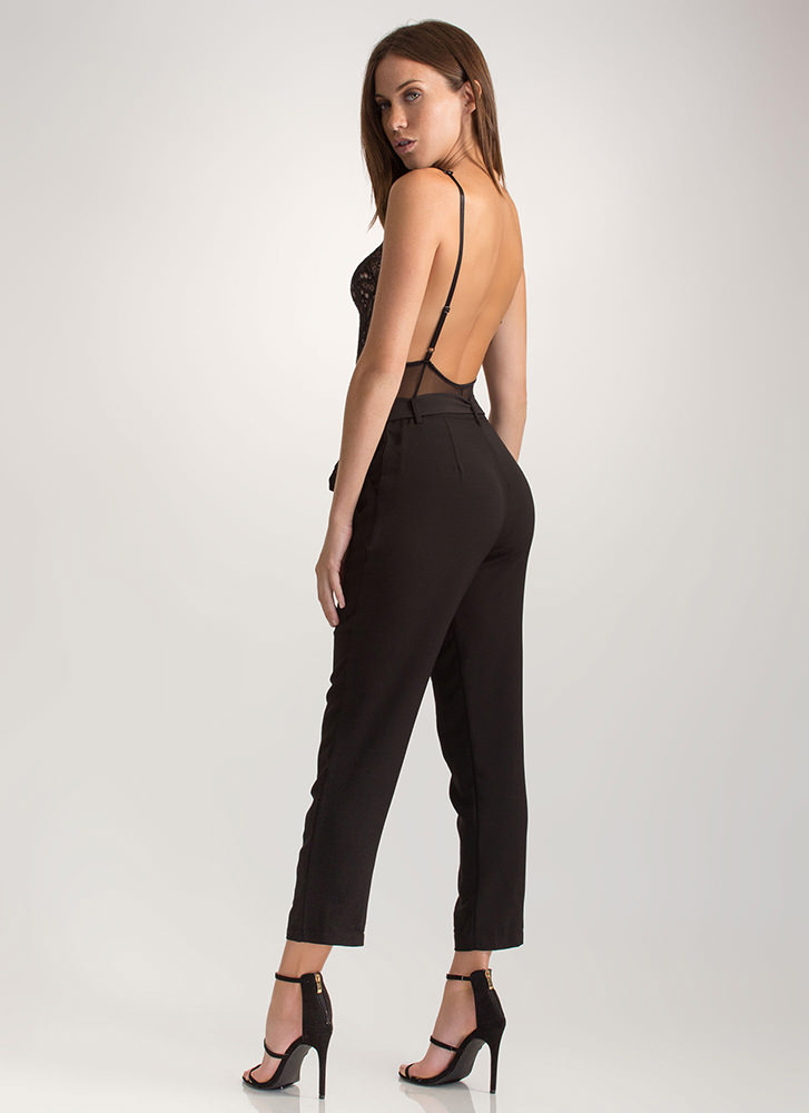 Tres Chic Tied Pants BLACK