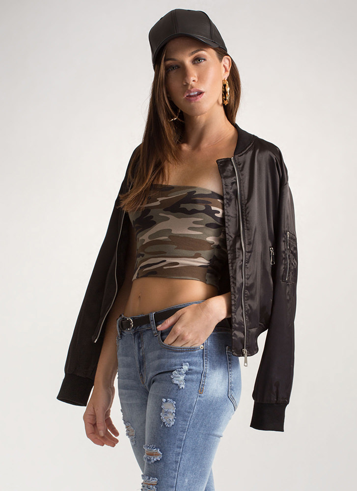 Infinite Possibilities Cropped Tube Top CAMOUFLAGE
