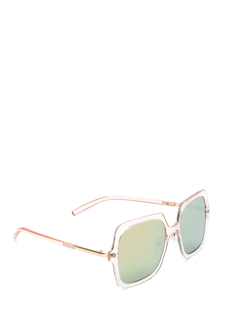Pool Day Square Sunglasses PINK