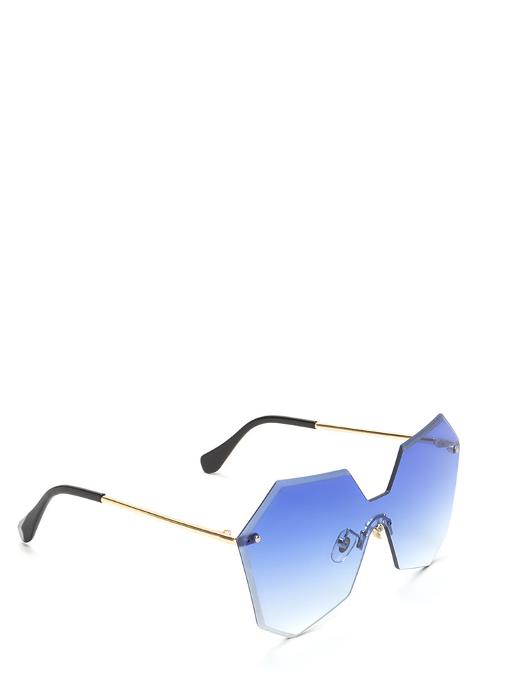 Fresh Angles Frameless Sunglasses BLUE