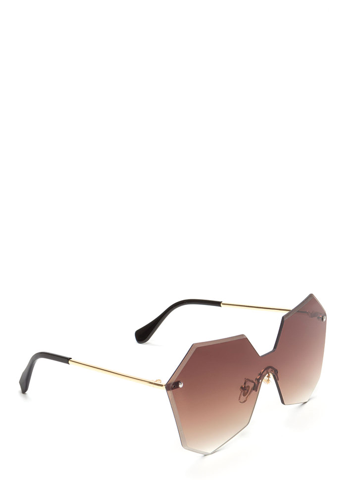 Fresh Angles Frameless Sunglasses BROWN