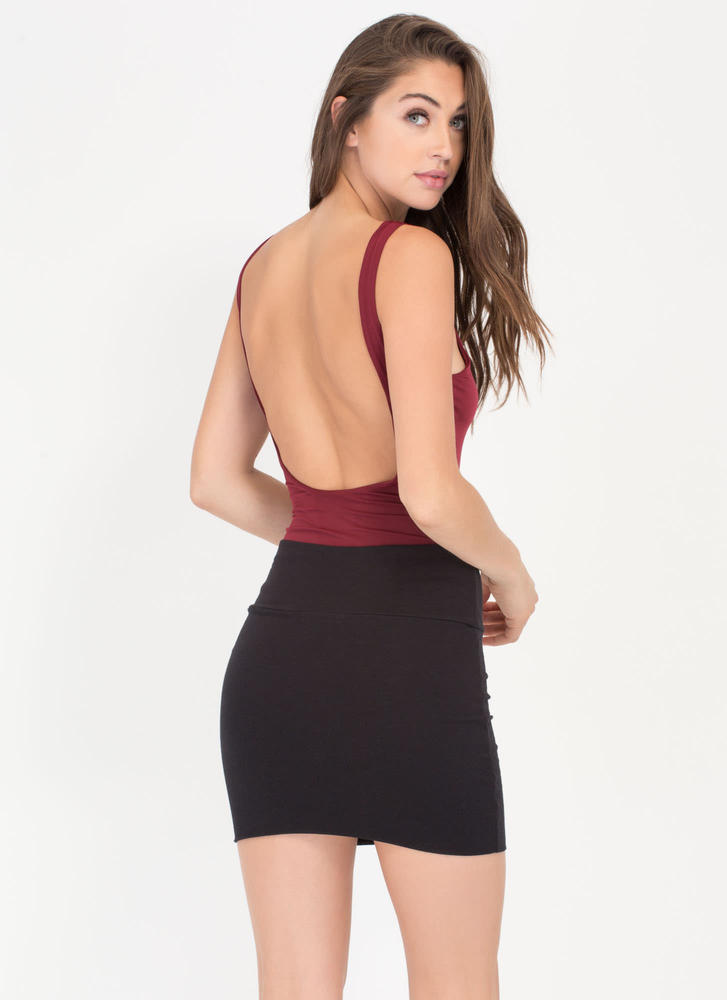 Fitted Mini Skirt BLACK