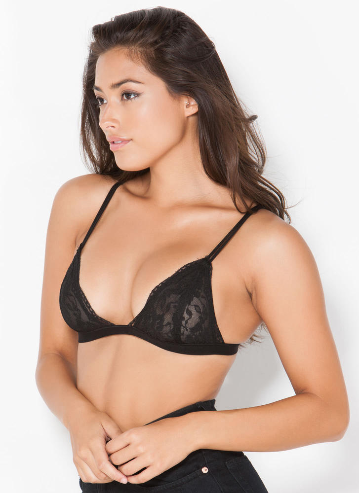 Lovely Lady Lace Bralette BLACK (Final Sale)