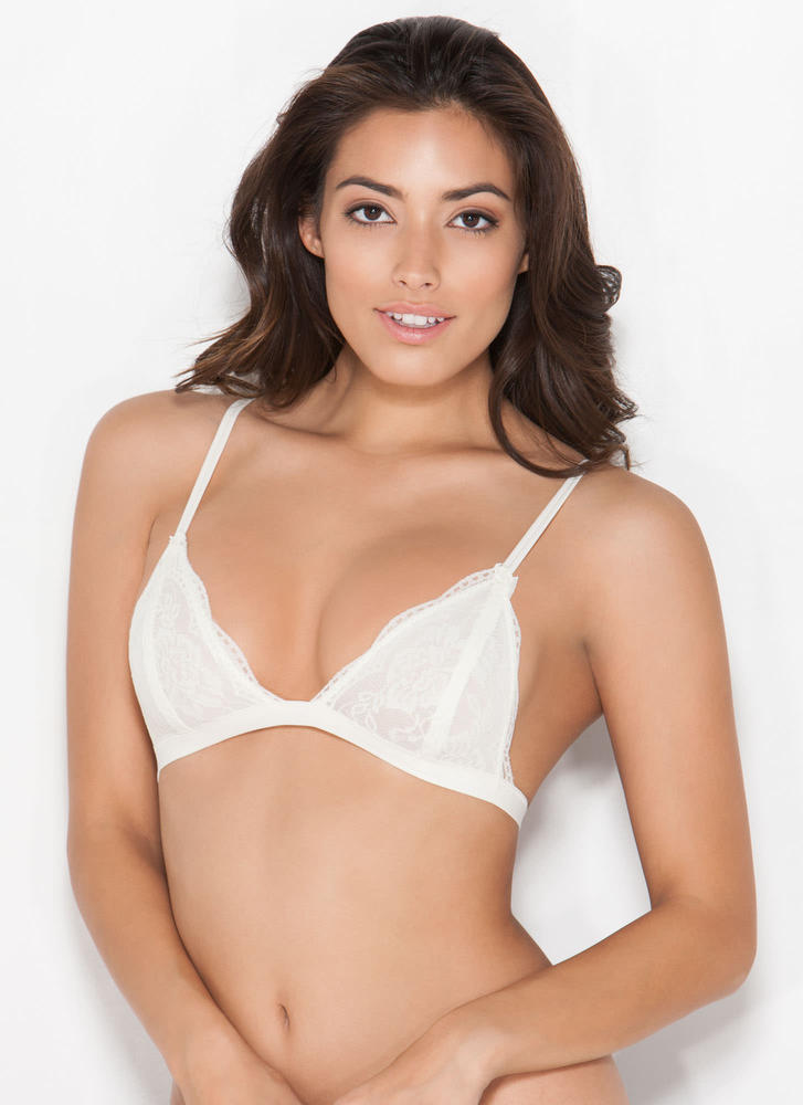 Lovely Lady Lace Bralette IVORY (Final Sale)