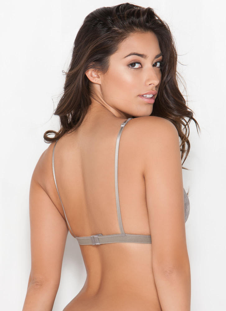 Lovely Lady Lace Bralette TAUPE (Final Sale)