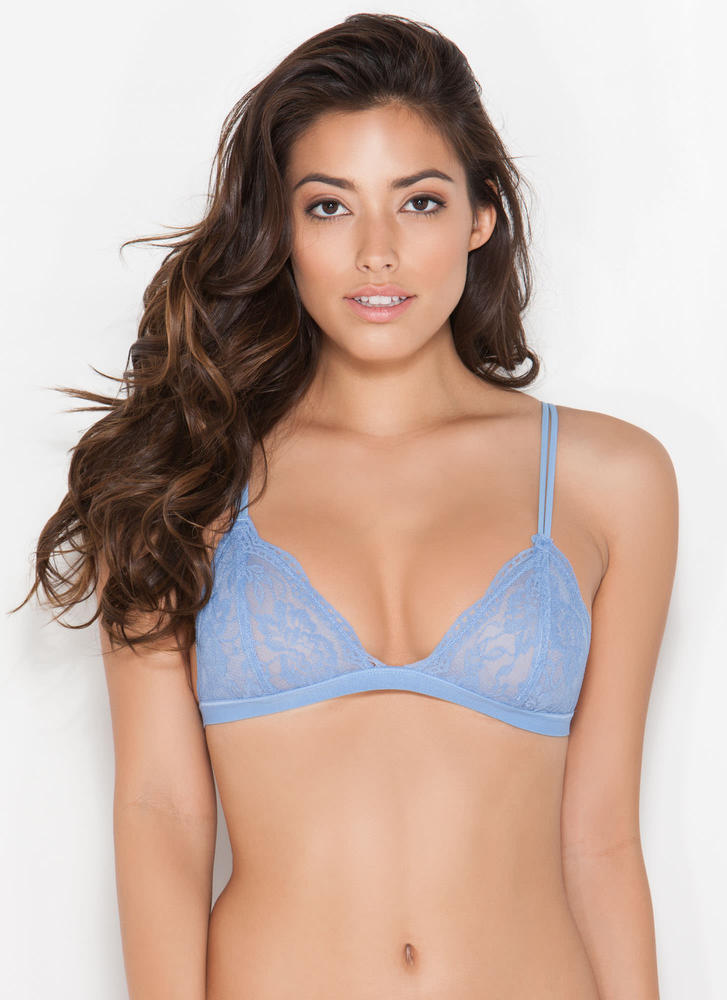 Lovely Lady Lace Bralette WILDBLUE (Final Sale)