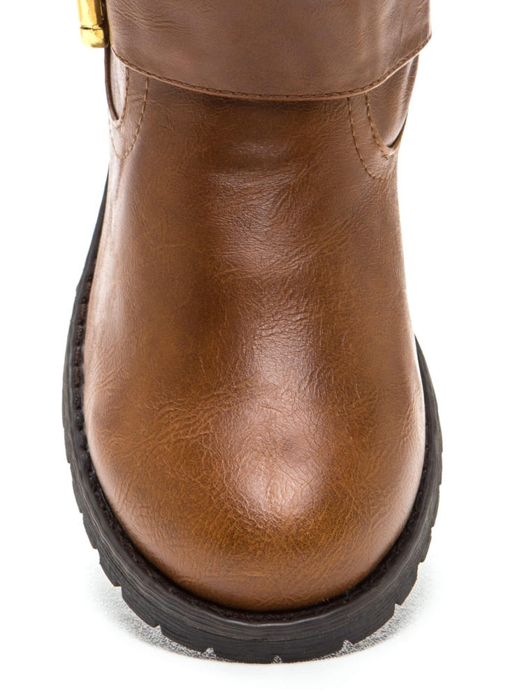 Studly Double Buckle Boots CHESTNUT (Final Sale)
