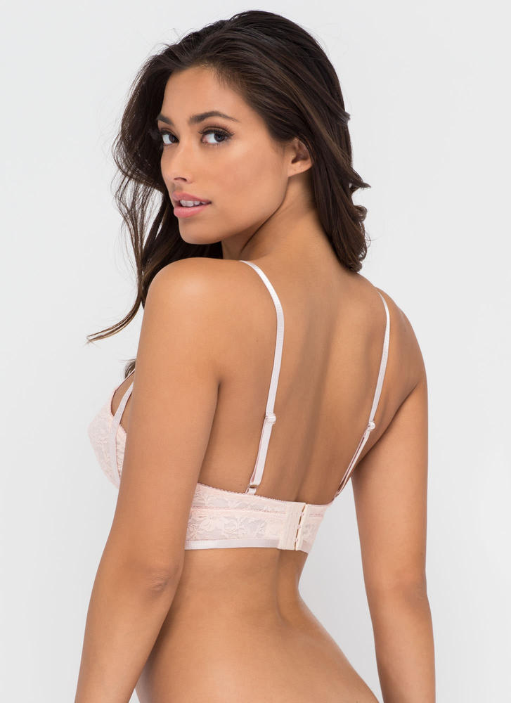 First Lace Strappy Bra Top BLUSH (Final Sale)