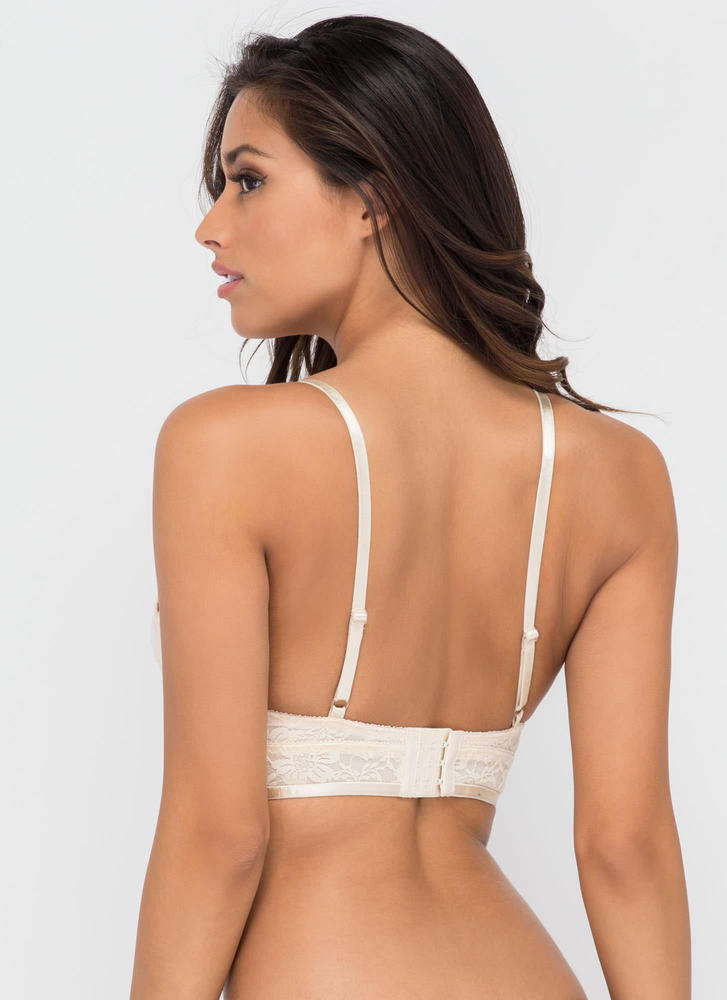 First Lace Strappy Bra Top NUDE (Final Sale)
