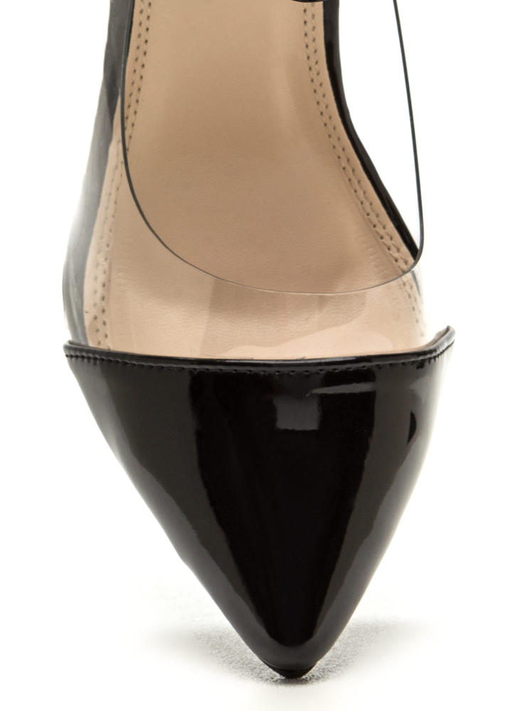 Clear The Way Pointy Pumps BLACK (Final Sale)