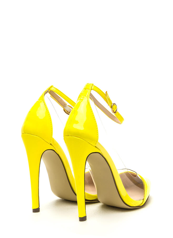 Clear The Way Pointy Pumps YELLOW (Final Sale)