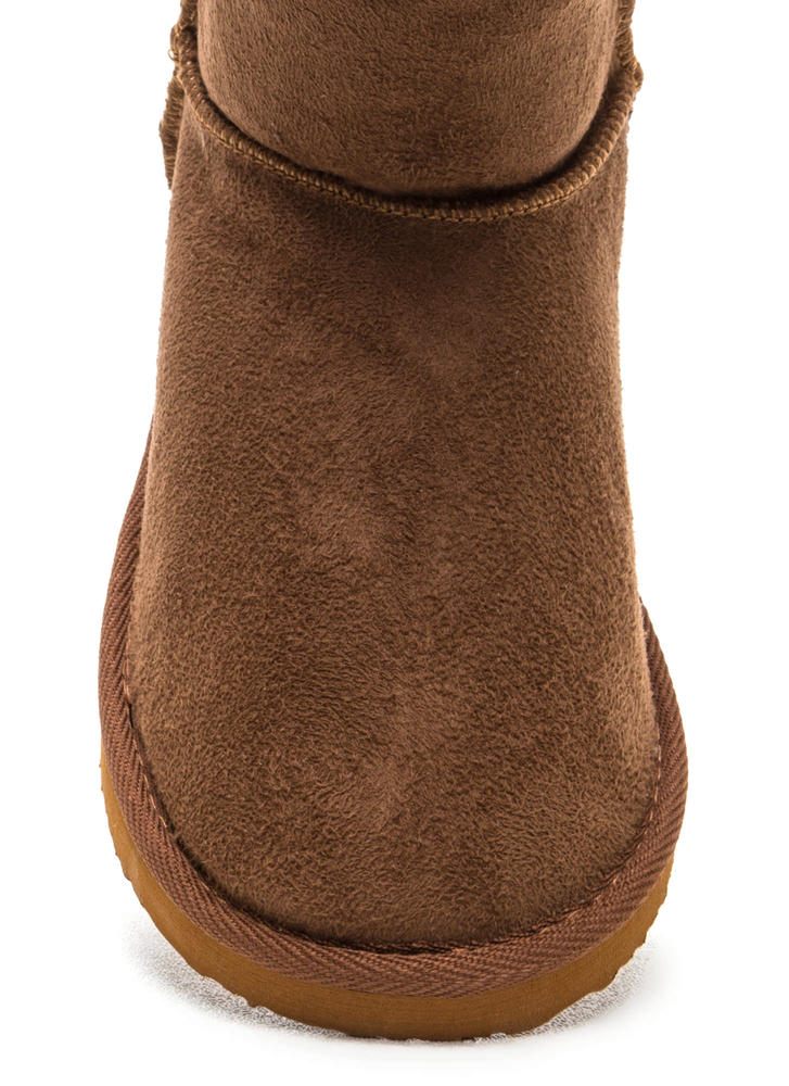 High Time Faux Shearling Boots DKCAMEL (Final Sale)
